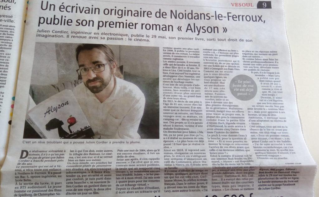 Article presse de Vesoul
