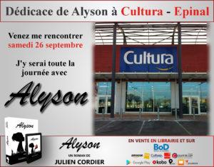 Dédicace Cultura Epinal 26/09/2020